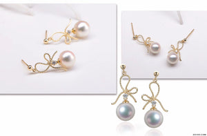 G14K Golden Knots Edison Pearl Earrings - Timeless Pearl