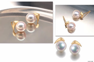 G14K Golden Smile Edison Pearl Earrings - Timeless Pearl