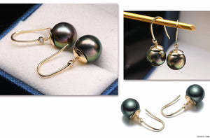 G14K Peacock Edison Pearl Earrings - Timeless Pearl