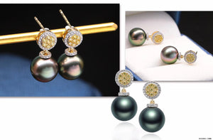 G14K Sunshine Edison Pearl Earrings - Timeless Pearl