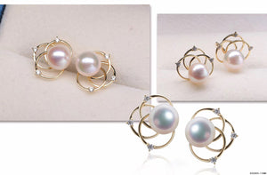 G14K Floral Edison Pearl Earrings - Timeless Pearl