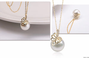 G14K Heart of Palm Edison Pearl Pendant - Timeless Pearl