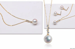 G14K Shining Crystal Edison Pearl Pendant - Timeless Pearl