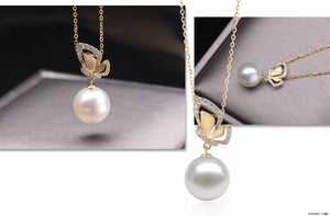 G14K Butterfly Edison Pearl Pendant - Timeless Pearl