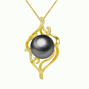 G18K Diamonds Mystical Pearl Pendant