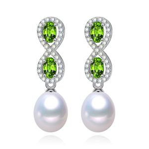 Infinite Luck Crystal and Pearl Earrings