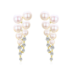 Frozen Queen Icicle Pearl Earrings