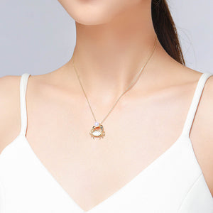 Cancer Golden Crab Pearl Necklace