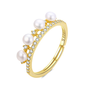 Princess Golden Pearl Ring