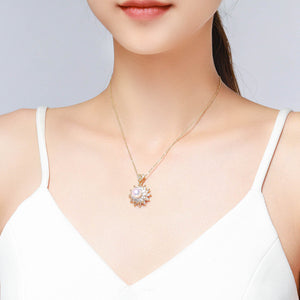 Flower Of Life Pearl Necklace