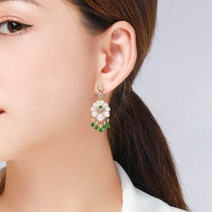 Lucky Pearl Chandelier Earrings