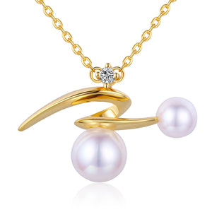 Galactic Swirl Edison Pearl Necklace