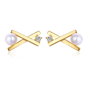 Matchstick Pearl Earrings