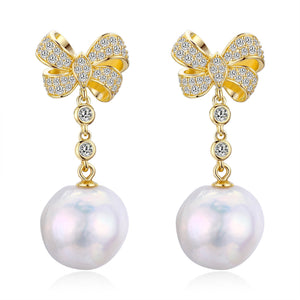Bows & Pearls Earrings