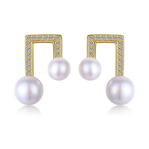 Architectural Pearl Earrings