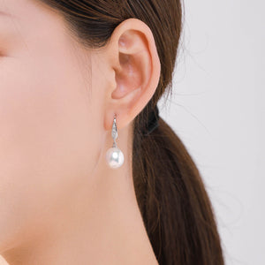 Sparkling Rain Drop Earrings