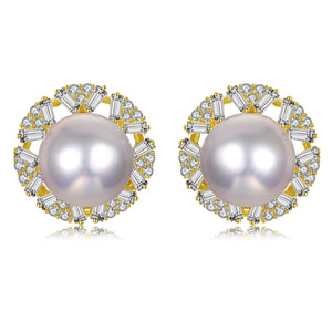 Exquisite Blossom Pearl Studs Earrings