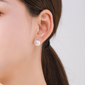 Betsy Round Baroque Pearl Earrings