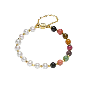 Tourmaline Artists Pearl Bracelet
