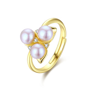 Celtic Knot Pearl Ring
