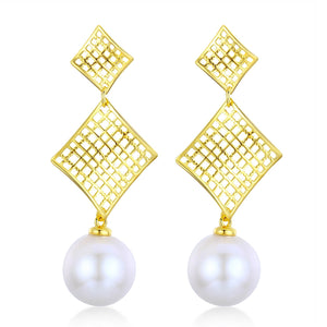 Golden Kites Edison Pearl Earrings