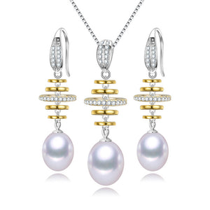 Balance Pearl Earrings & Necklace Gift Set