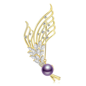 Feel the Wind Edison Pearl Brooch
