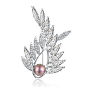 Take Flight Edison Pearl Brooch