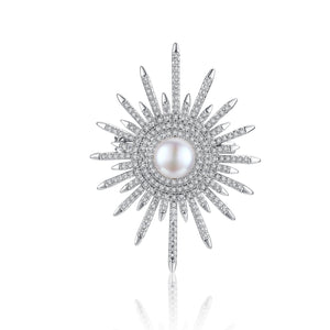 Winter Sun Pearl Brooch