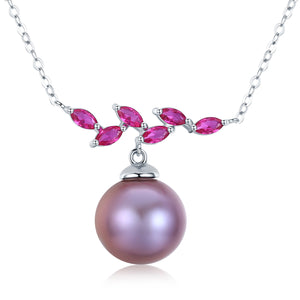 Blushing Pink Edison Pearl Necklace