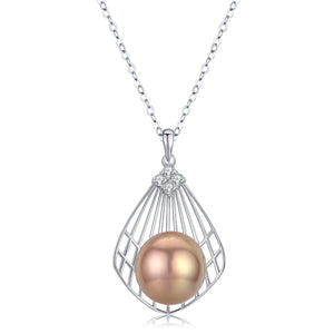 Silver Shell Edison Pearl Necklace