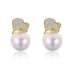 Abstract Pearl Studs Earrings
