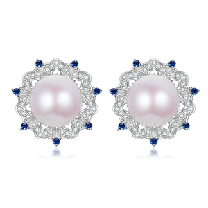 Pink and Blue Edison Pearl Studs Earrings