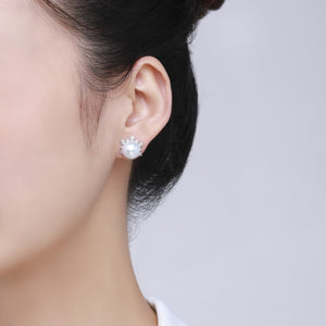 Ice Princess Pearl Studs Earrings