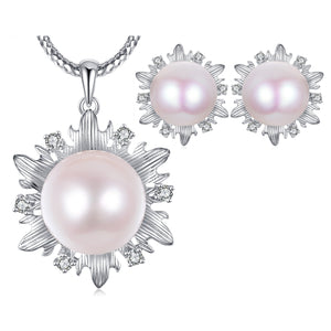 Aubree Edison Pearl Earrings & Necklace Set