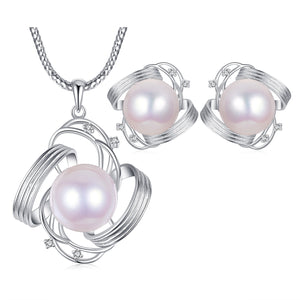 Kylie Edison Pearl Earrings & Necklace Set