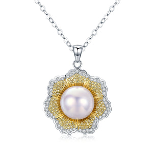 Sunflower Edison Pearl Necklace