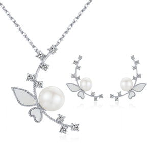 Fairytale Edison Pearl Necklace & Earrings Gift Set