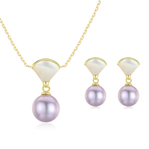 Your Fans Pearl Earrings & Necklace Set