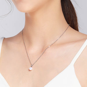 G18K Simple Round Pearl Pendant