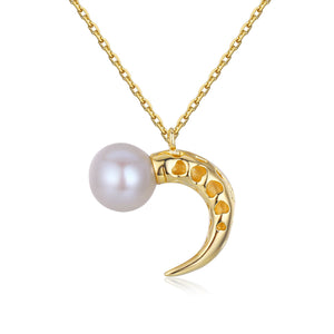 New Moon Pearl Necklace
