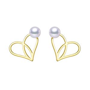 Loving Hearts Pearl Earrings