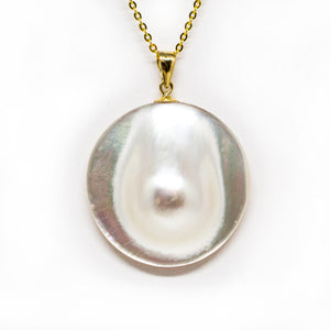 Bubble Mabe Pearl Necklace - Timeless Pearl