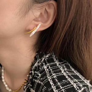 Golden Couples Freshwater Pearl Earrings
