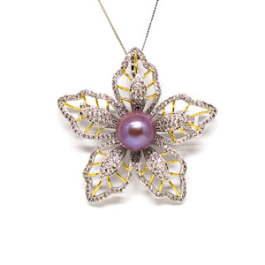 Bauhinia Edison Pearl Brooch - Timeless Pearl