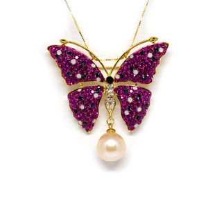 Butterfly Drop Edison Pearl Brooch - Timeless Pearl