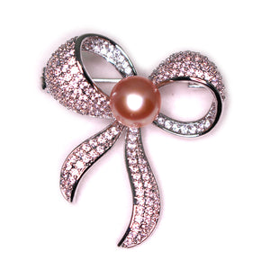 Bow Tie Pearl Brooch - Timeless Pearl