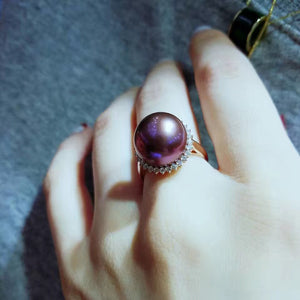 GOLDEN DIAMONDS EDISON PEARL RING - Timeless Pearl