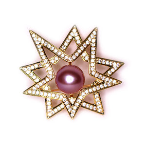 Golden Super Star Edison Pearl Brooch - Timeless Pearl