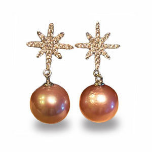 ELEGANT STAR EDISON PEARL EARRINGS - Timeless Pearl